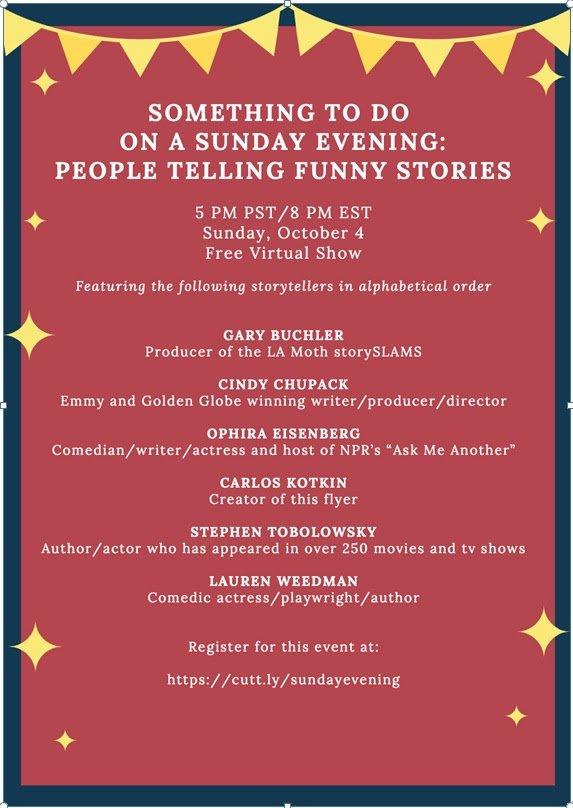 Sunday Evening Stories 20200927