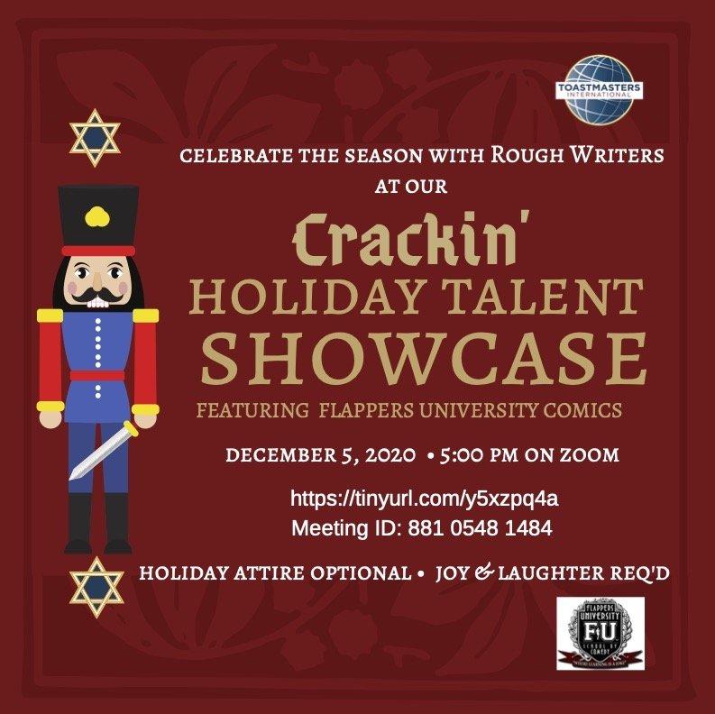 Crackin Holiday Showcase 2020 Flyer