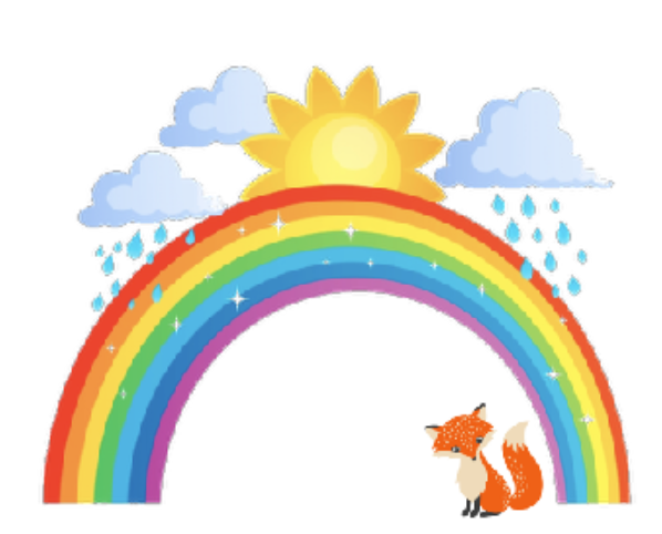 Fox under Sun Shower