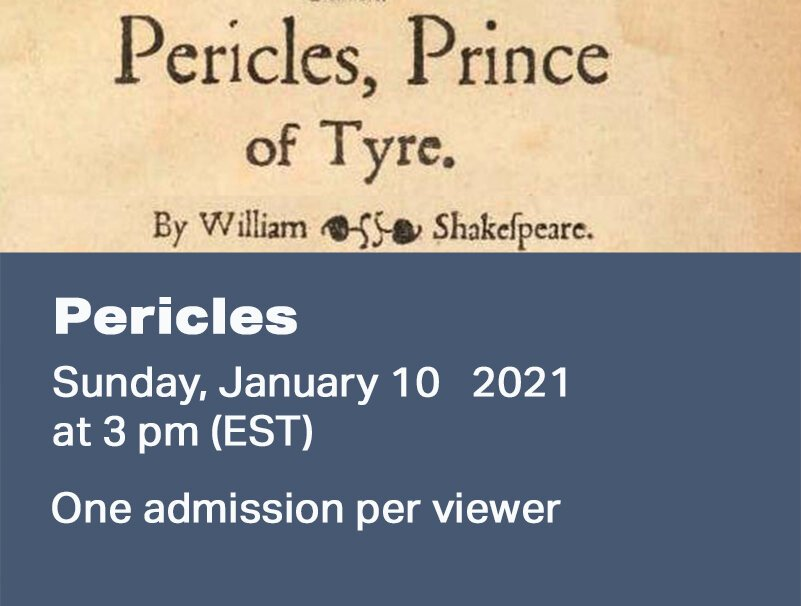 BEFORE SHAKESPEARE: PERICLES