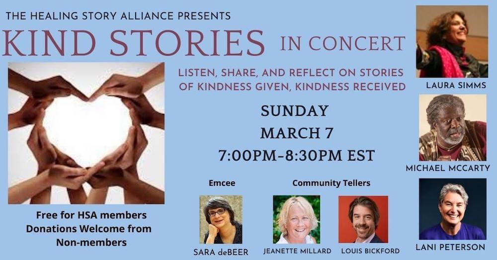 Kind Stories in Concerts flyer