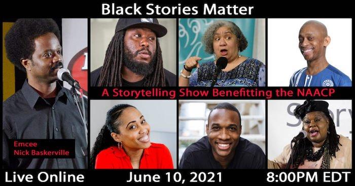 Storytellers at the Black Stories Matter storytelling show