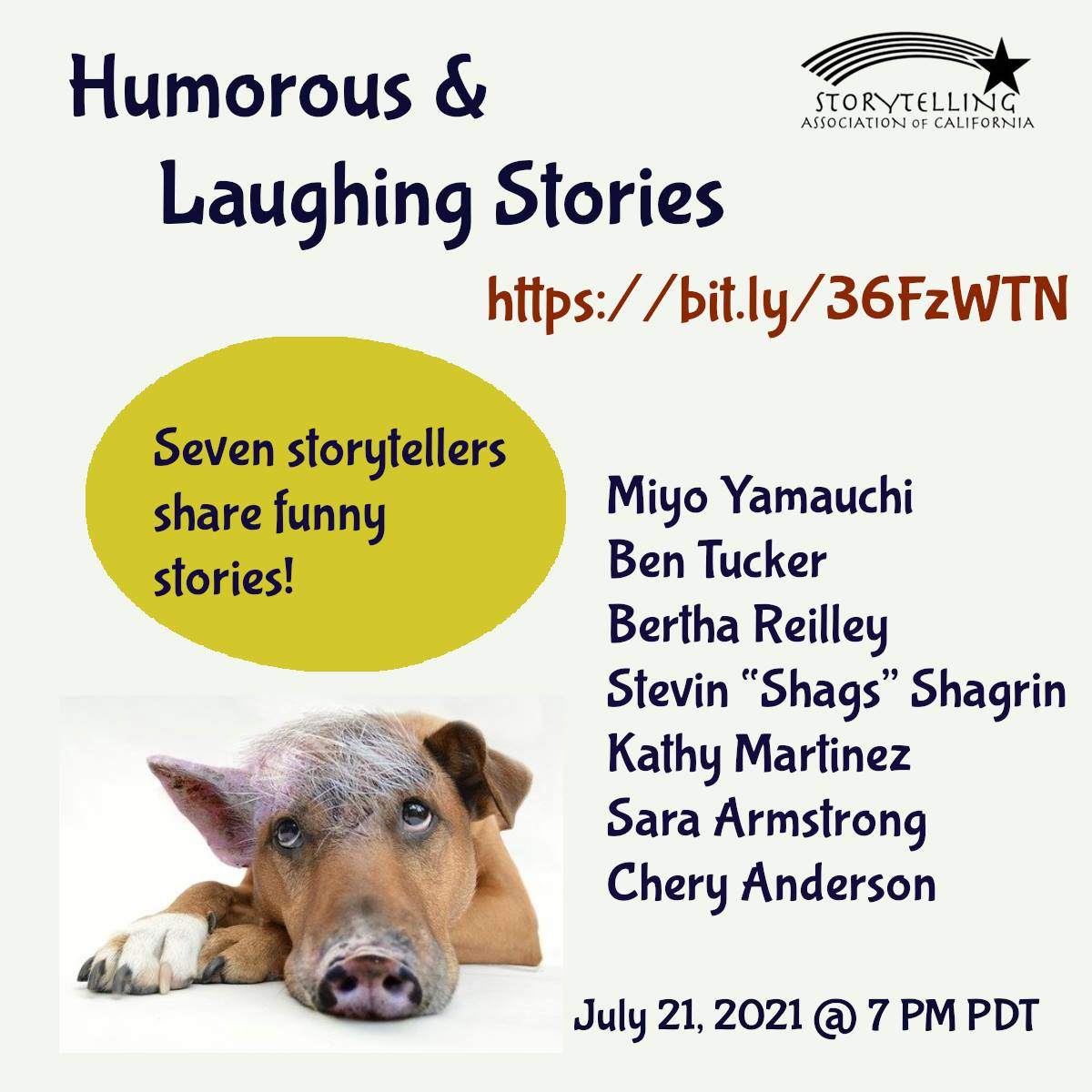 Humorous Laughing Stories Show on July 21, 2021