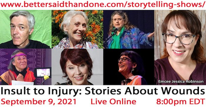 Insult to Injury storytelling show